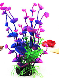 cheap -Fish Tank Aquarium Decoration Artificial Plants Hornwort Anacharis Fish Bowl Waterplant Artificial Plants Rainbow Artificial Plastic 1 pc 8*8*18 cm