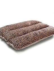 cheap -Dog Mattress Pad Bed Bed Blankets Soft Pet Mats & Pads Cotton Leopard Solid Colored Leopard Beige