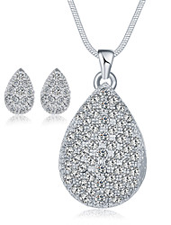 cheap -Crystal AAA Cubic Zirconia Ladies Crystal Cubic Zirconia Earrings Jewelry Silver For Wedding Party Special Occasion Daily Casual