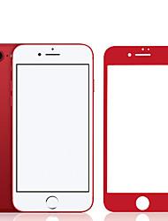 Недорогие -zxd фарфора красный мягкий край для iphone6s / 6 протектора экрана 3d полное покрытие закаленного стекла бесшовного покрытия анти блики