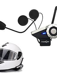 Недорогие -freedconn 1шт T-Rex полный дуплекс 1500m 8-полосная система мотоцикла группа разговора BT домофонных FM-радио беспроводной шлем Bluetooth