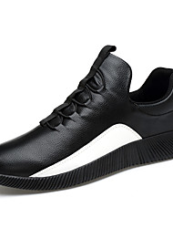 cheap -Men's Comfort Shoes Faux Leather Spring / Fall Athletic Shoes Walking Shoes Black / White / Lace-up / Outdoor