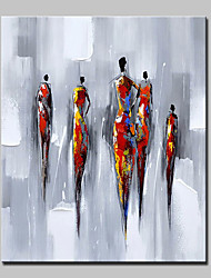cheap -Oil Painting Hand Painted Abstract People Modern European Style Stretched Canvas With Stretched Frame