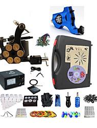 cheap -BaseKey Professional Tattoo Kit Tattoo Machine - 2 pcs Tattoo Machines Analog power supply 1 rotary machine liner & shader / 1 alloy machine liner & shader / Case Included