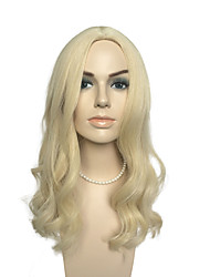 cheap -loose wave wig mid part wig long blonde wig women party wig hairstyle