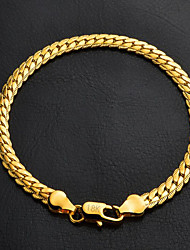 cheap -Women's Chain Bracelet Figaro Chunky Classic Fashion 18K Gold Plated Bracelet Jewelry Silver / Golden For Christmas Gifts Wedding Party Birthday Gift Daily / Platinum Plated