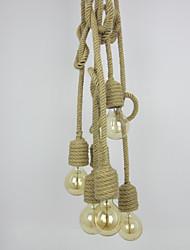 abordables -Corde de chanvre industrielle vintage 6-pendentif lumières salon salle à manger café bars magasin de vêtements décoration lumière corde 150cm