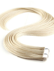 cheap -Neitsi Tape In Human Hair Extensions Straight Human Hair Human Hair Extensions 1pack Women's Platinum Blonde
