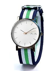 cheap -Fashion Watch Quartz Fabric Band Casual Black White Blue Red Green Green Black Black/White Black/Blue White/Red