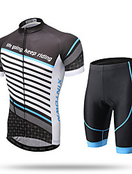 cheap -XINTOWN Men's Women's Short Sleeves Cycling Jersey with Shorts - Black/Red Black/Blue Bike Shorts Jersey Pants / Trousers Clothing Suits,