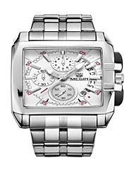 cheap -Men's Fashion Watch Quartz Charm Analog White Black / Stainless Steel / Stainless Steel