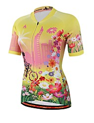 cheap -Miloto Men's Women's Short Sleeve Cycling Jersey Floral Botanical Bike Jersey Top Sweat-wicking Sports Coolmax® Mountain Bike MTB Road Bike Cycling Clothing Apparel / Stretchy