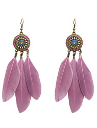 cheap -Women's Drop Earrings Ladies Stylish Native American Feather Earrings Jewelry Candy Pink / 11# / Royal Blue For Wedding Party Special Occasion Party / Evening Daily Casual 1 set