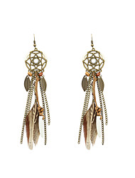 cheap -Drop Earrings Feather Earrings Jewelry Brown For Wedding Party Halloween Daily Casual Sports