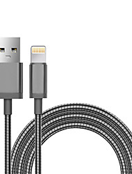 cheap -iPhone Charger Cable, MFi Certified Lightning Cables Apple Lightning Braided Aluminum / Metal USB Cable Adapter For iPhone 11/Pro/Max/X/XS/XR/XS Max/8/Plus/7/7 Plus/6/6S/6 Plus