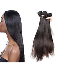 cheap -Human Hair Remy Weaves Straight Brazilian Hair 400 g More Than One Year