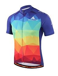 cheap -Miloto Men's Women's Short Sleeve Cycling Jersey Gradient Bike Jersey Top Mountain Bike MTB Road Bike Cycling Sweat-wicking Sports Coolmax® Clothing Apparel / Stretchy