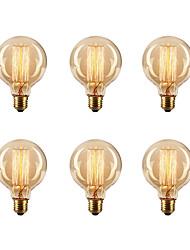 cheap -Ecolight™ 6pcs Edsion Bulbs 40W E26/E27 G80 2300k Incandescent Vintage Edison Light Bulb 220-240V