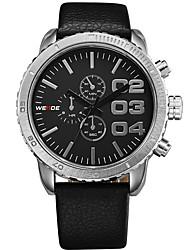 cheap -Men's Sport Watch Fashion Watch Dress Watch Quartz Genuine Leather Multi-Colored 50 m Analog Charm Classic Casual - White Black