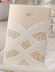 cheap -Wrap & Pocket Wedding Invitations 10 - Others / Invitation Cards Classic Material / Card Paper Flower