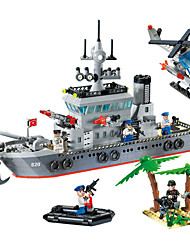 abordables -ENLIGHTEN 820 Blocs de Construction Kit de Maquette Jeu de construction Jouets 614 pcs Militaire Navire de Guerre Bateau compatible Legoing Créatif Cool A Faire Soi-Même Chic & Moderne Dessin Anim