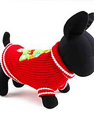 cheap -Dog Coat Dog Clothes Solid Colored Red Blue Down Cotton Costume For Spring &  Fall Winter Men's Women's Casual / Daily