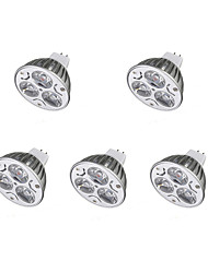 cheap -5pcs 3W 300-400lm LED Spotlight MR16 3 LEDs Warm White Cold White 12V