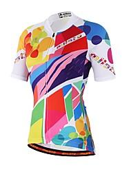 cheap -Men's Women's Short Sleeve Cycling Jersey Rainbow Bike Jersey Top Mountain Bike MTB Road Bike Cycling Sweat-wicking Sports Coolmax® Clothing Apparel / Stretchy