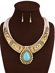 cheap -Wedding Party Daily Alloy 1 Necklace 1 Pair of Earrings