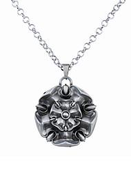 cheap -Men's Women's Pendant Necklace Logo Flower Unique Design Dangling Alloy Bronze Silver Necklace Jewelry For
