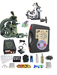cheap -BaseKey Tattoo Machine Starter Kit, 2 pcs Tattoo Machines with tattoo inks - 1 steel machine liner & shader, 1 alloy machine liner &