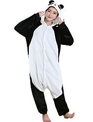 cheap -Adults' Kigurumi Pajamas Panda Onesie Pajamas Flannel Toison Black Cosplay For Men and Women Animal Sleepwear Cartoon Festival / Holiday Costumes
