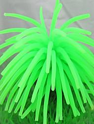 cheap -Aquarium Decoration Ornament Non-toxic & Tasteless Silicone Green