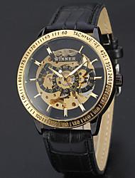 Недорогие -Муж. С автоподзаводом Механические часы Наручные часы Часы со скелетом Нарядные часы Спортивные часы Повседневные часы Натуральная кожа
