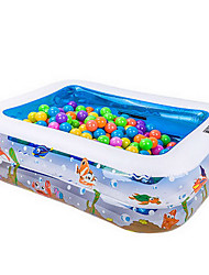 cheap -Kiddie Pool Paddling Pool Inflatable Pool Intex Pool Inflatable Swimming Pool Kids Pool Water Pool for Kids Fun Extra Large Silica Gel Plastic Summer Swimming 1 pcs Kid's Adults Kids Adults'
