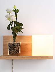 cheap -Ecolight™ Country Wall Lamps & Sconces For Wood / Bamboo Wall Light 110-120V 220-240V 60W