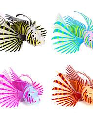cheap -Fish Tank Aquarium Decoration Artificial Fish Black Noctilucent Silicone 1 pc