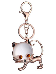 cheap -Key Chain Cat Key Chain Creative Metal 1 pcs Chic & Modern Adults' Boys' Girls' Toy Gift