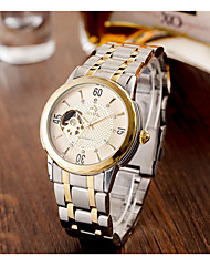 cheap -Men's Sport Watch Quartz Stainless Steel Band Vintage White