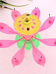 cheap -Musical Lotus Flower Candles Happy Birthday Candle for Party Gift Lights Decoration