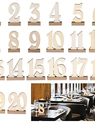cheap -Table Number Cards Wood Wedding Decorations Anniversary / Birthday / Engagement Garden Theme / Classic Theme Spring / Summer / Fall