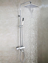 cheap -Shower Faucet - Contemporary Chrome Wall Mounted Brass Valve Bath Shower Mixer Taps / Two Handles Three Holes