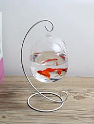 cheap -Fish Tank Fish Bowl Ornament Transparent Glass 1 pc