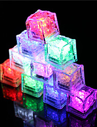 cheap -LED Ice Cubes Light Multi Color for Drink Wine Party Wedding Decoration 12pcs