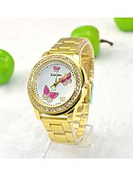 Недорогие -Модные часы Кварцевый Золотистый Аналоговый Стальной Армейский зеленый Красный