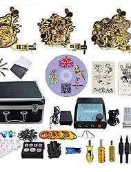 cheap -BaseKey Professional Tattoo Kit Tattoo Machine - 3 pcs Tattoo Machines, Professional Alloy 19 W LED power supply 3 alloy machine liner & shader / Case Included