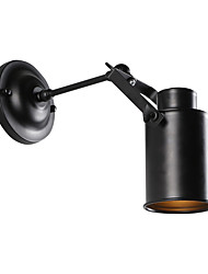 Недорогие -старинный черный металл чердак настенные светильники гостиная столовая прихожая кафе бары бар настенные бра