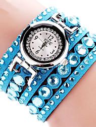 cheap -Women's Bracelet Watch Wrist Watch Quartz Black / White / Blue Imitation Diamond Analog Ladies Charm Sparkle Casual Bohemian - Brown Red Pink