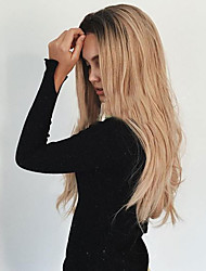 cheap -Synthetic Wig Wavy Wavy Wig Blonde Long Black / Strawberry Blonde Synthetic Hair Women's Heat Resistant Ombre Hair Dark Roots Blonde