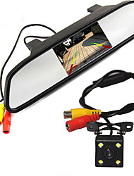 Недорогие -WG4.3-5inch 480p / 1080p HD Автомобильный видеорегистратор 170° / 110 градусов Широкий угол 5 дюймовый / 4.3 дюймовый Капюшон с Ночное